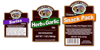 Walnut Creek Foods Product Labels